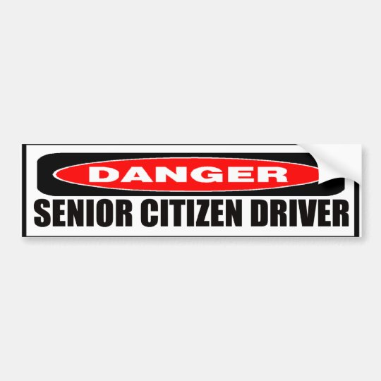 Bumper Stickers For The Elderly