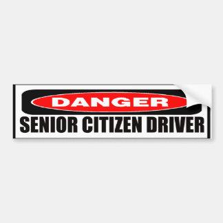 Senior Citizen Driver Bumper Sticker Car Bumper Sticker