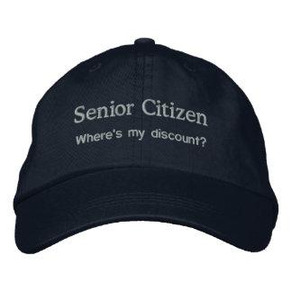 Senior Citizen Embroidered Baseball Hat