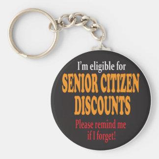 Senior Citizen Moments Basic Round Button Keychain