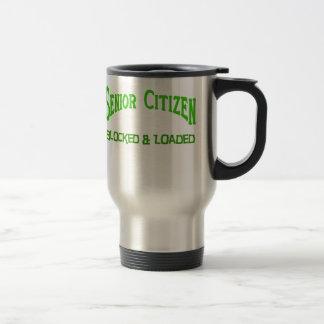 Senior Citizen 15 Oz Stainless Steel Travel Mug