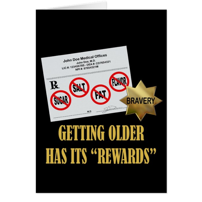 "Senior Citizen ""Rewards"" Greeting Cards"