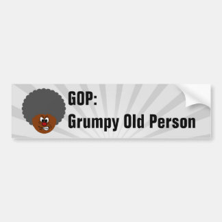 Senior Citizen Voters Vote GOP: Grumpy Old People Bumper Sticker