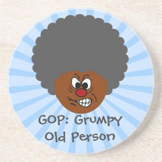 Senior Citizen Voters Vote GOP: Grumpy Old People Drink Coaster