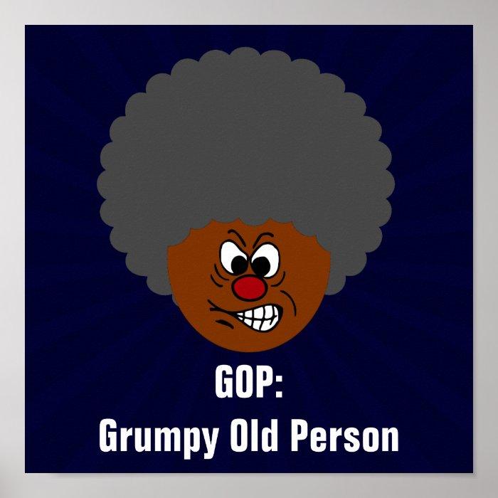 Senior Citizen Voters Vote GOP Grumpy Old People Print