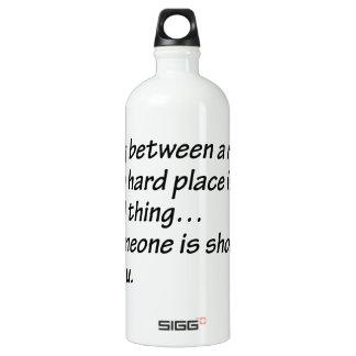 Senior Citizens - Between a rock and a hard place SIGG Traveler 1.0L Water Bottle