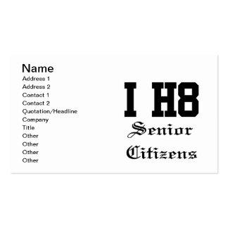 senior citizens business card templates