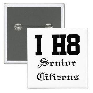 senior citizens pinback buttons