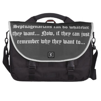 Senior Citizens - Septuagenarians can do Commuter Bag