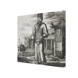 Senior Civil Servant Collecting Taxes, illustratio Canvas Print