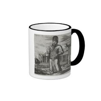 Senior Civil Servant Collecting Taxes, illustratio Ringer Mug
