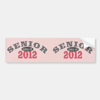 Senior Class of 2012 Bumper Sticker