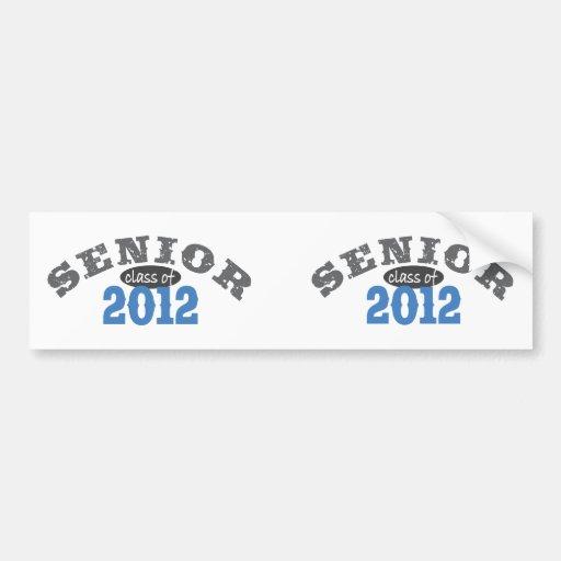 Senior Class of 2012 Car Bumper Sticker