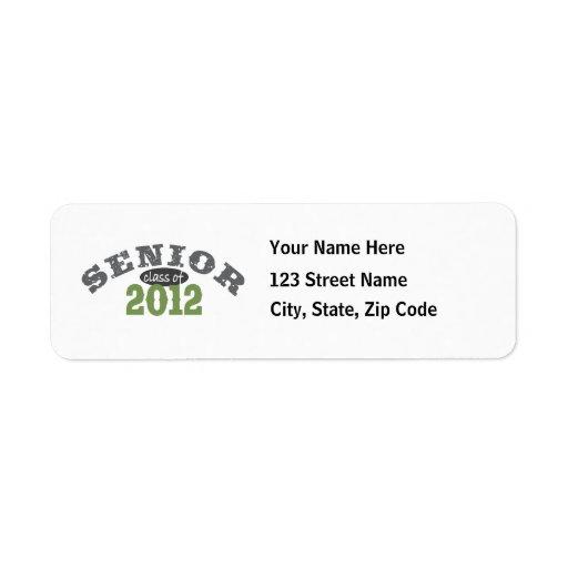 Senior Class of 2012 Custom Return Address Labels