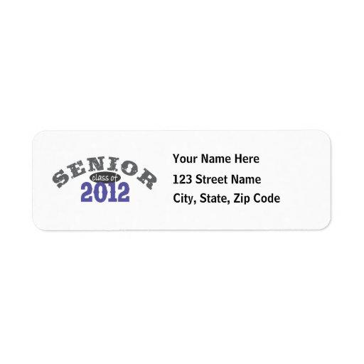 Senior Class of 2012 Return Address Label