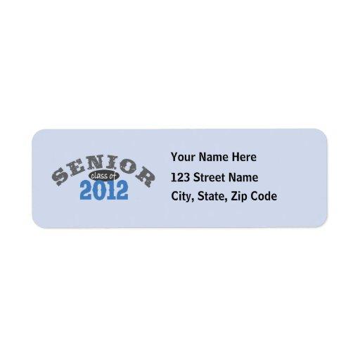 Senior Class of 2012 Custom Return Address Label