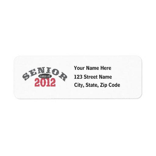 Senior Class of 2012 Return Address Labels