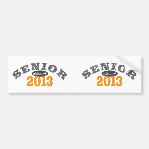 Senior Class of 2013 Bumper Sticker