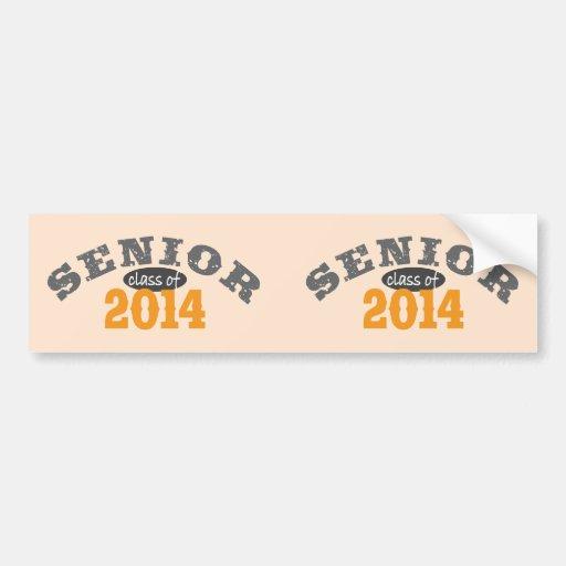 Senior Class of 2014 Bumper Sticker