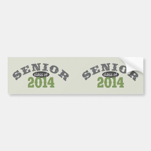 Senior Class of 2014 Car Bumper Sticker