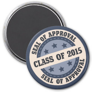 Senior Class of 2015 Badge 3 Inch Round Magnet