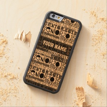 Beach Themed Senior Class of 2015 iPhone 6 Bumper Cherrywood Carved Cherry iPhone 6 Bumper Case