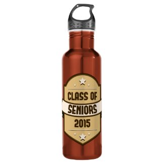 Senior Class of 2015 Label 24oz Water Bottle