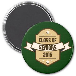 Senior Class of 2015 Label 3 Inch Round Magnet