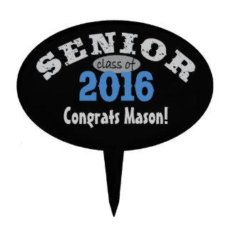 Senior Class of 2016 Blue Oval Cake Picks