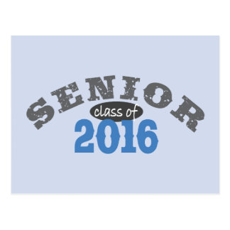 Senior Class of 2016 Blue Postcard