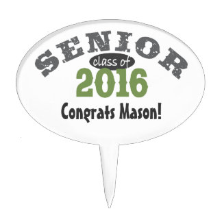 Senior Class of 2016 Green Cake Toppers