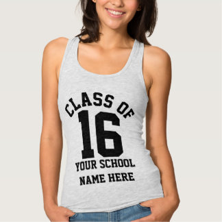 Senior Class of 2016 Personalized School Name Grad Tank Top