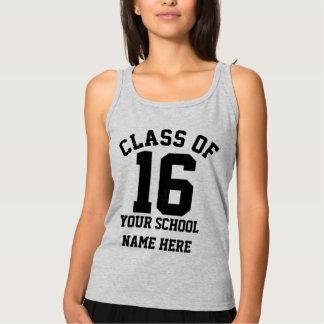 Senior Class of 2016 Personalized School Name Grad Basic Tank Top