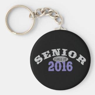 Senior Class of 2016 Purple Basic Round Button Keychain