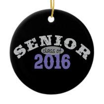 Senior Class of 2016 Purple Ceramic Ornament