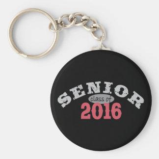 Senior Class of 2016 Red Basic Round Button Keychain