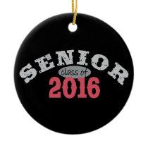 Senior Class of 2016 Red Ceramic Ornament