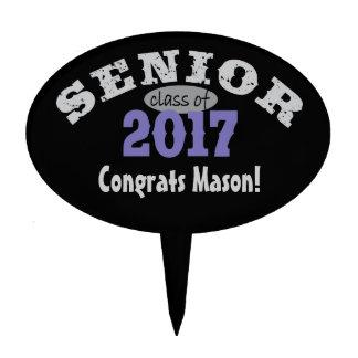 Senior Class of 2017 Purple Cake Topper