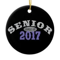 Senior Class of 2017 Purple Ceramic Ornament