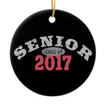 Senior Class of 2017 Red Ceramic Ornament