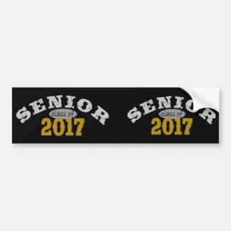 Senior Class of 2017 Yellow Gold Bumper Sticker