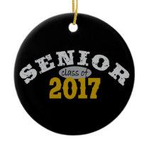Senior Class of 2017 Yellow Gold Ceramic Ornament