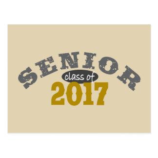 Senior Class of 2017 Yellow Gold Postcard