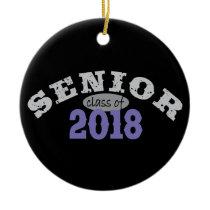 Senior Class of 2018 Purple Ceramic Ornament