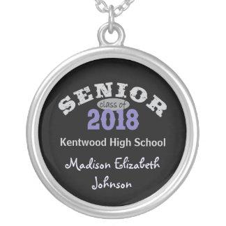Senior Class of 2018 Purple Custom Necklace