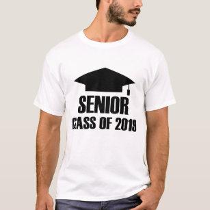 senior 2019 t shirts t shirt design printing zazzle. Black Bedroom Furniture Sets. Home Design Ideas
