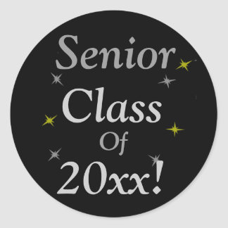 """Senior Class Of 20xx!"" Classic Round Sticker"