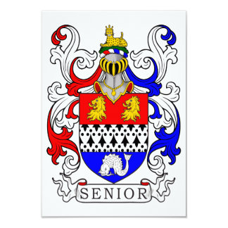 Senior Coat of Arms Personalized Announcements