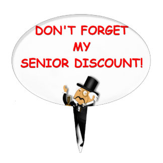 senior discount cake toppers