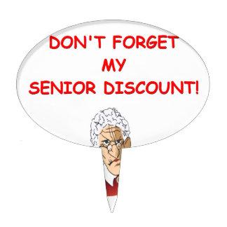 senior discount cake topper
